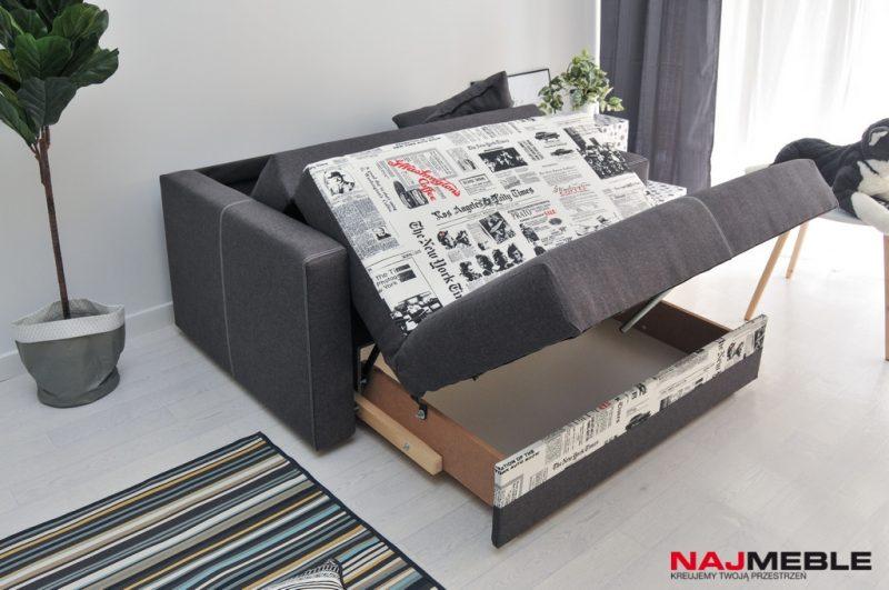 mała sofa z pojemnikiem