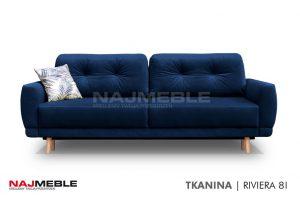 granatowa sofa rozkładana