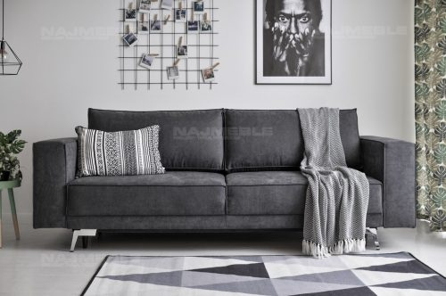 szara sofa do loftów