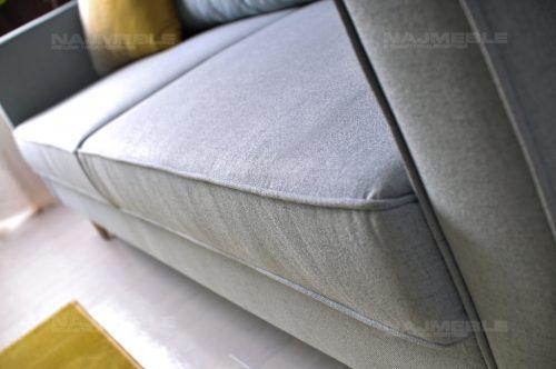 sofa z lamówką