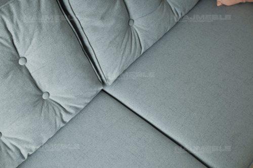 sofa pikowana z poduszkami