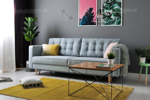 sofa rozkładana w stylu skandynawksim