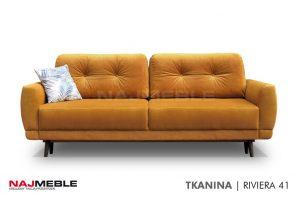 żółta sofa z funkcją spania