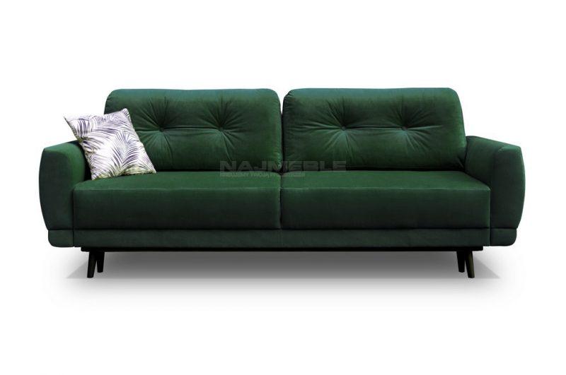 rozkładana sofa welurowa