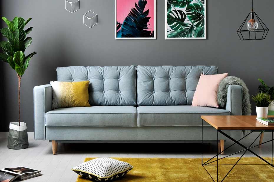 pikowana sofa skandynawska
