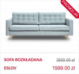 skandynawska sofa pikowana